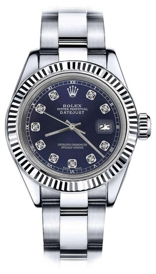 Preload https://img-static.tradesy.com/item/24088561/rolex-ladies-26mm-datejust-navy-blue-color-dial-with-diamond-accent-watch-0-1-540-540.jpg