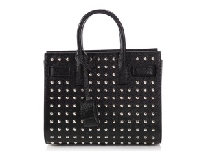 Saint Laurent Ys.p0912.09 Nano Studded Silver Hardware Embellished Cross Body Bag