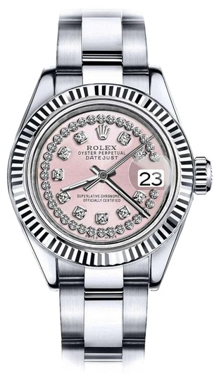 Preload https://img-static.tradesy.com/item/24088671/rolex-ladies-26mm-datejust-pink-string-diamond-dial-with-vintage-style-watch-0-1-540-540.jpg