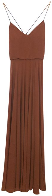 "Item - Cinnamon Rose ""Inesse"" Chiffon V-neck Spaghetti Strap Gown Long Formal Dress Size 6 (S)"