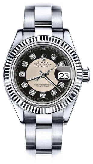 Preload https://img-static.tradesy.com/item/24088724/rolex-ladies-26mm-datejust-silverblack-tuxedo-dial-diamond-accent-rt-watch-0-1-540-540.jpg