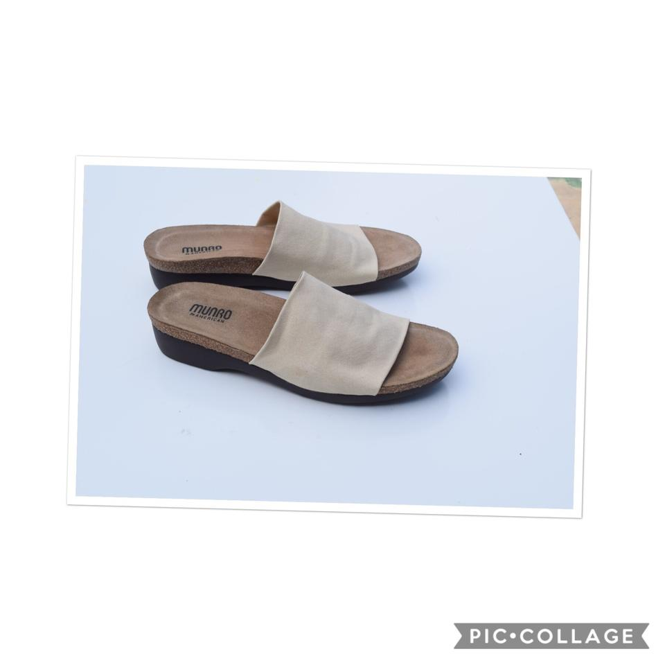 d7237bc99a Munro American Off White Slide Sandals Size US 8 Regular (M, B ...