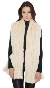 Belle Fare Belle Fare Knitted Dyed Rex Rabbit Fur with Pocket Wrap