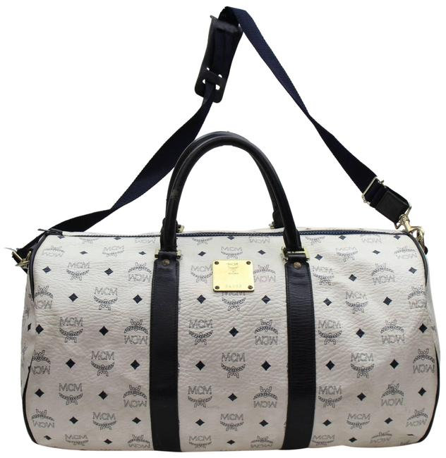 Item - Duffle Monogram Visetos Boston with Strap 868015 White Coated Canvas Weekend/Travel Bag