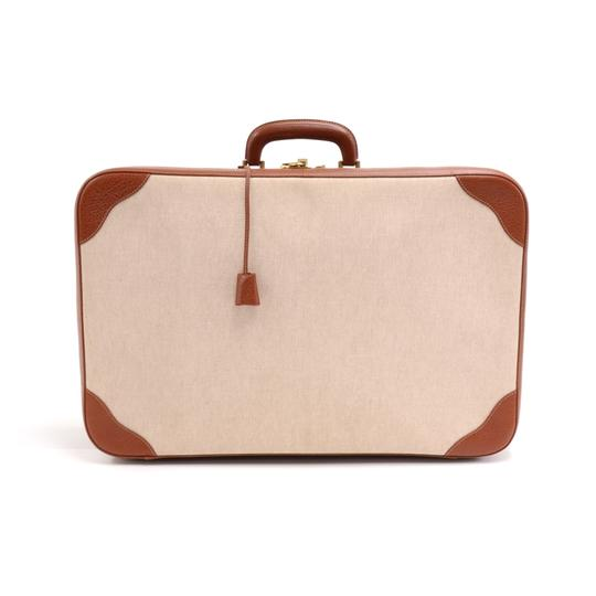 Preload https://img-static.tradesy.com/item/24089518/hermes-vintage-canvas-and-brown-suitcase-beige-leather-weekendtravel-bag-0-0-540-540.jpg