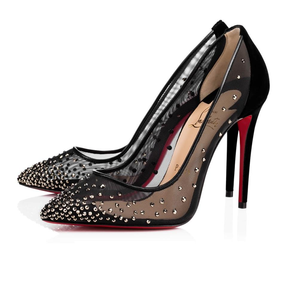 0c0232438f0 Christian Louboutin Follies Pigalle Strass Crystal Stiletto black Pumps  Image 0 ...