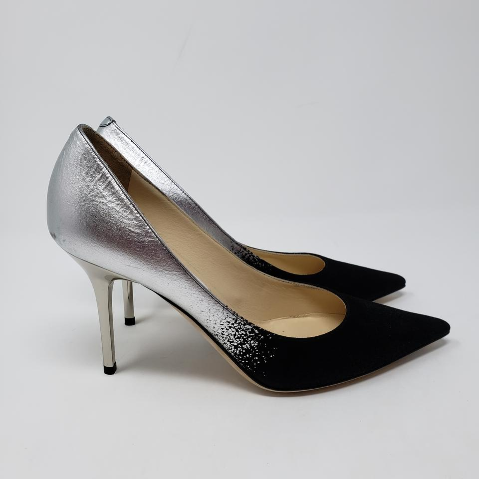 9ec2c9158ae Jimmy Choo Silver Ombre Black Leather Agnes Pointed-toe Pumps Size EU 36  (Approx. US 6) Regular (M, B) 43% off retail