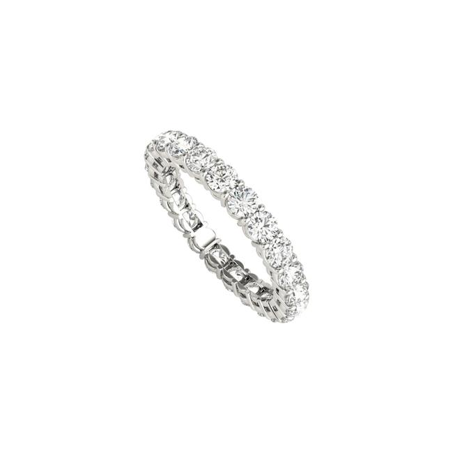 Unbranded White Cubic Zirconia Eternity For Women 14k Gold Ring Unbranded White Cubic Zirconia Eternity For Women 14k Gold Ring Image 1