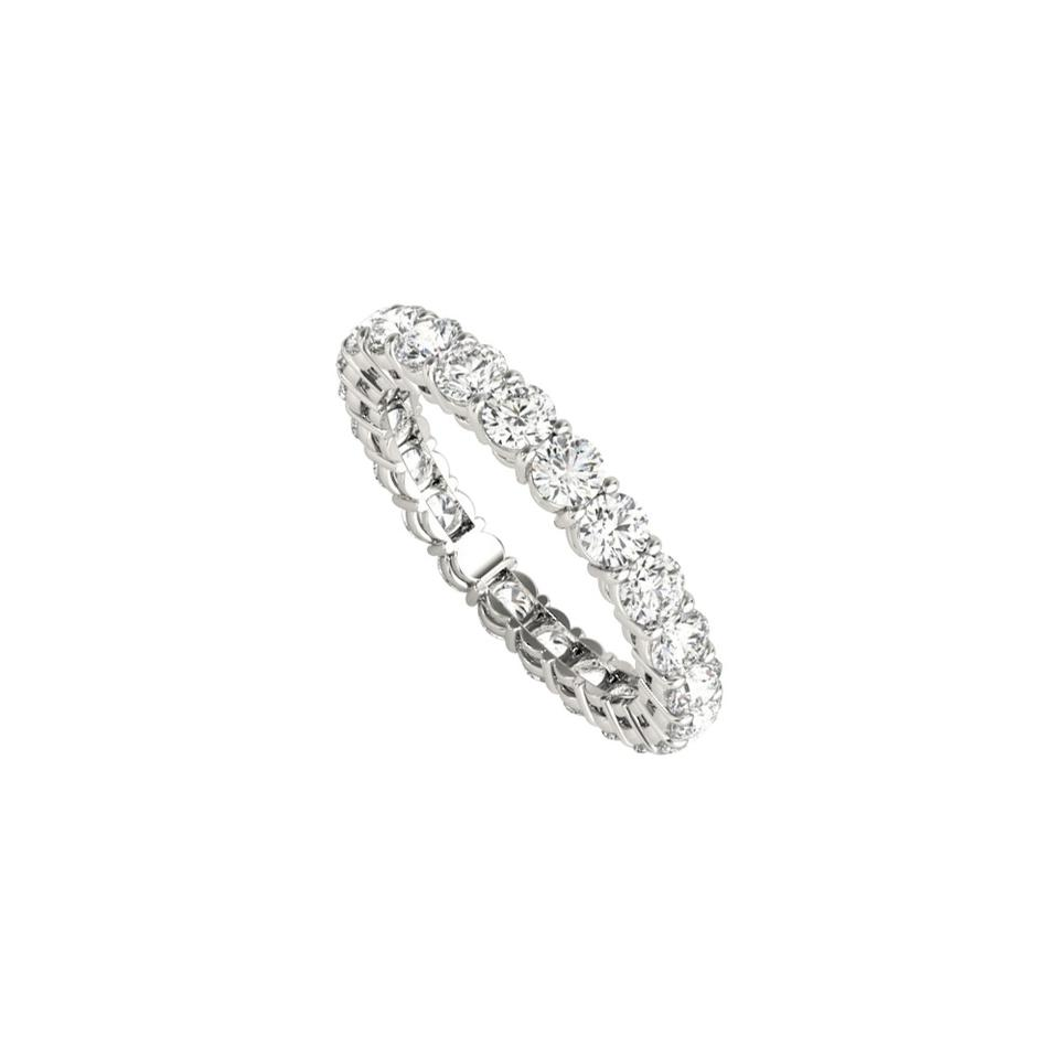 It is a picture of 4444k Yellow Gold 44.44 Carat Cubic Zirconia Wedding Eternity Band