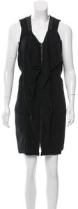 Ohne Titel Modern Deconstructed Zip-front Minimalist Edgy Dress
