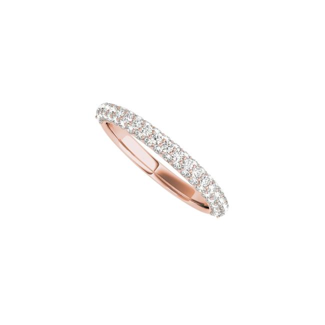 Unbranded Pink Round Cz Simple Wedding Band For Women In 14k Rose Gold Ring Unbranded Pink Round Cz Simple Wedding Band For Women In 14k Rose Gold Ring Image 1