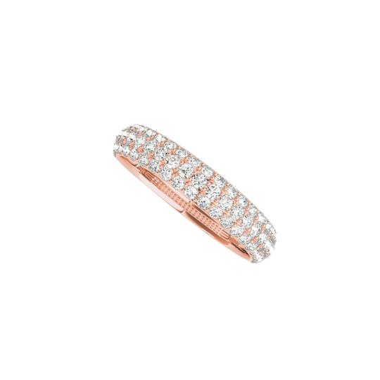 Preload https://img-static.tradesy.com/item/24090027/pink-three-rows-cz-wedding-band-for-women-in-14k-rose-gold-ring-0-0-540-540.jpg