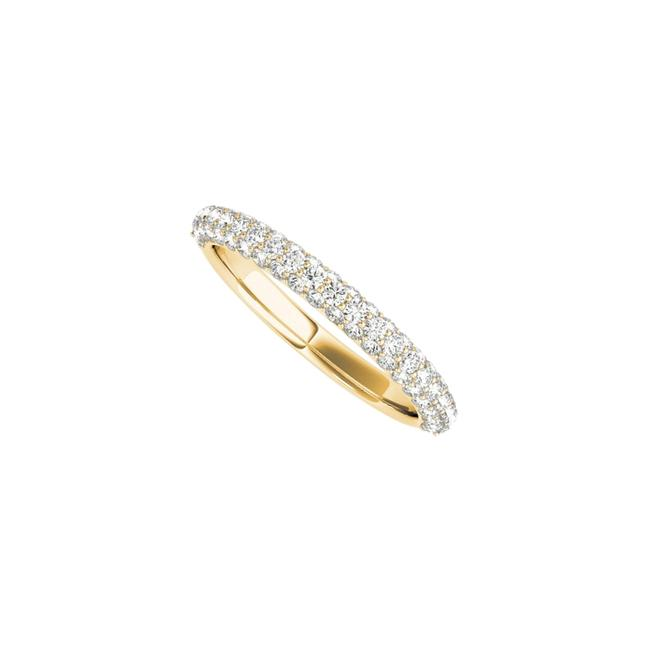 Unbranded Yellow Cubic Zirconia Simple Gold Wedding Band In Gold Ring Unbranded Yellow Cubic Zirconia Simple Gold Wedding Band In Gold Ring Image 1
