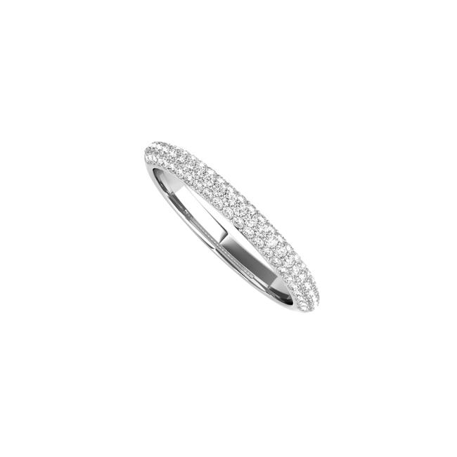 Unbranded White Simple Gold Wedding Band For Women with Cubic Zirconia Ring Unbranded White Simple Gold Wedding Band For Women with Cubic Zirconia Ring Image 1