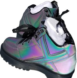 YRU Holographic Reflective Platform Rubber Hologram Athletic