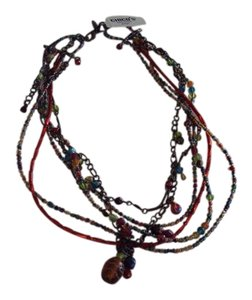 Chico's Chico's Multi-Color Glass Necklace New With Tags 18 in