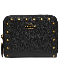 Coach COACH Border Rivets Small Zip Around Wallet 31811