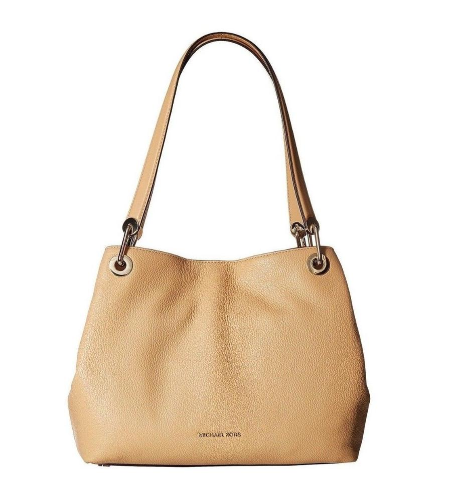 efd4af8c3294 Michael Kors Raven Large Pebble Butternut Leather Shoulder Bag - Tradesy