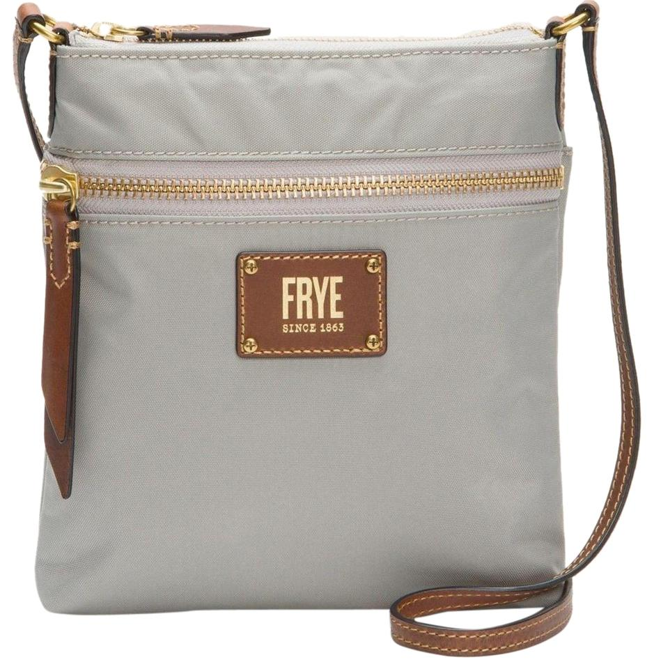 c54b366165 Frye Ivy Zip Db677 Light Grey Nylon Cross Body Bag - Tradesy