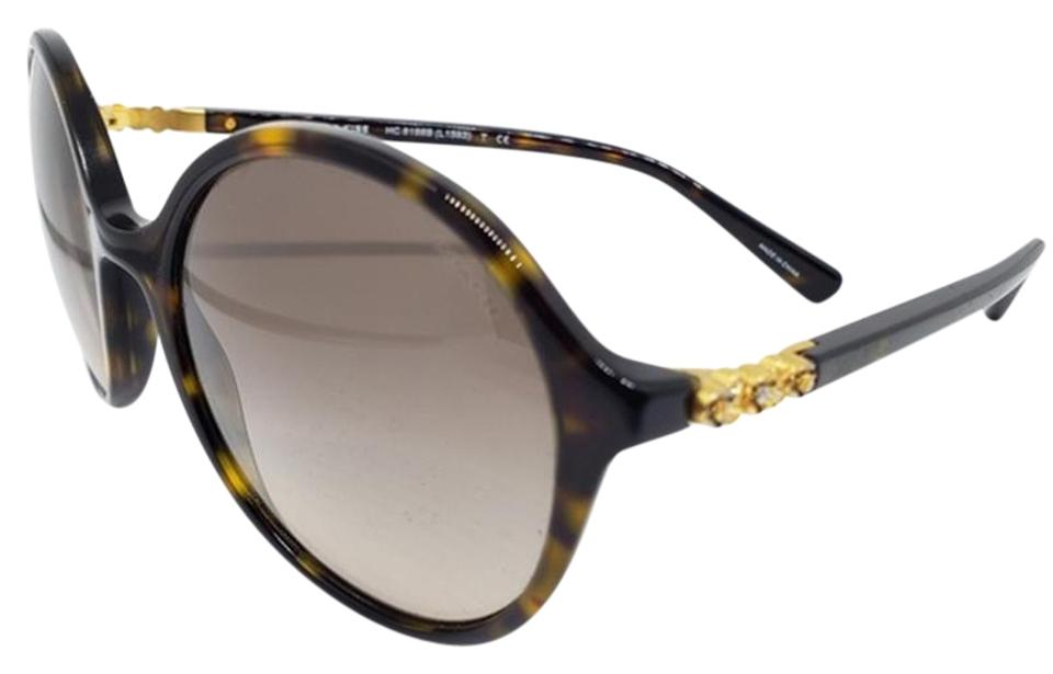7ffa901efa05 Coach Brown & Yellow Women Round Plastic Metal Frame with Gradient Lens  Sunglasses