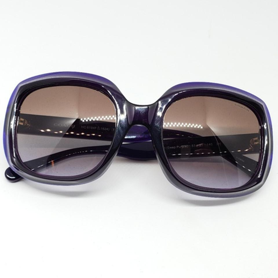 be19263a07 Coach Women Oversized Sunglasses Plastic Frame with Brown Gradient Lens  Image 7. 12345678