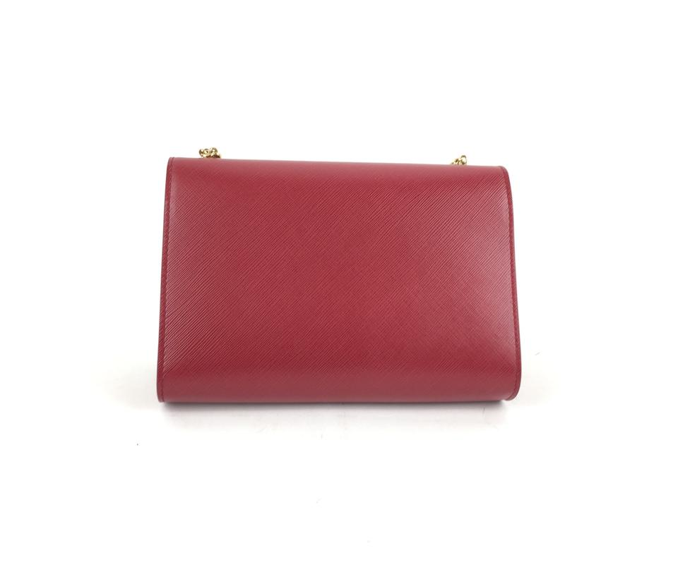 e1569d18a3 Salvatore Ferragamo Ginny Saffiano Shoulder Red Leather Cross Body ...