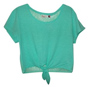 Social Occasions Crop Lace Backing Top Teal