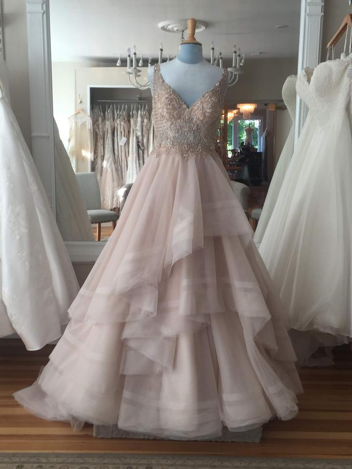 7cc3322a58 Martina Liana Moscato Rose Gold Tulle 884 Formal Wedding Dress Size ...