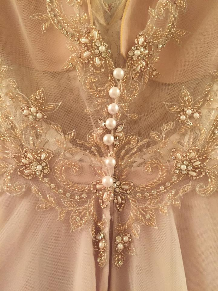 9bb56f27ad Martina Liana Moscato Rose Gold Tulle 884 Formal Wedding Dress Size 10 (M).  123