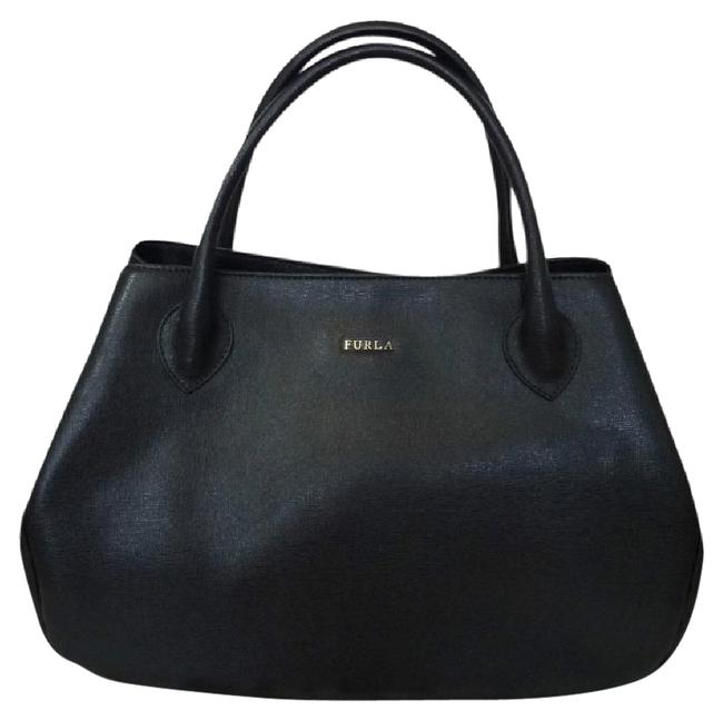 Furla M Giselle Black Saffiano Leather Tote Furla M Giselle Black Saffiano Leather Tote Image 1