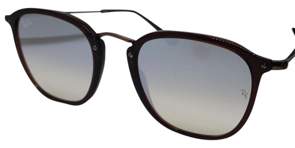 d7ddfec7a8 Ray-Ban Matte Brown   Silver Women Square Metal Plastic Frame with Mirrored  Lens Sunglasses