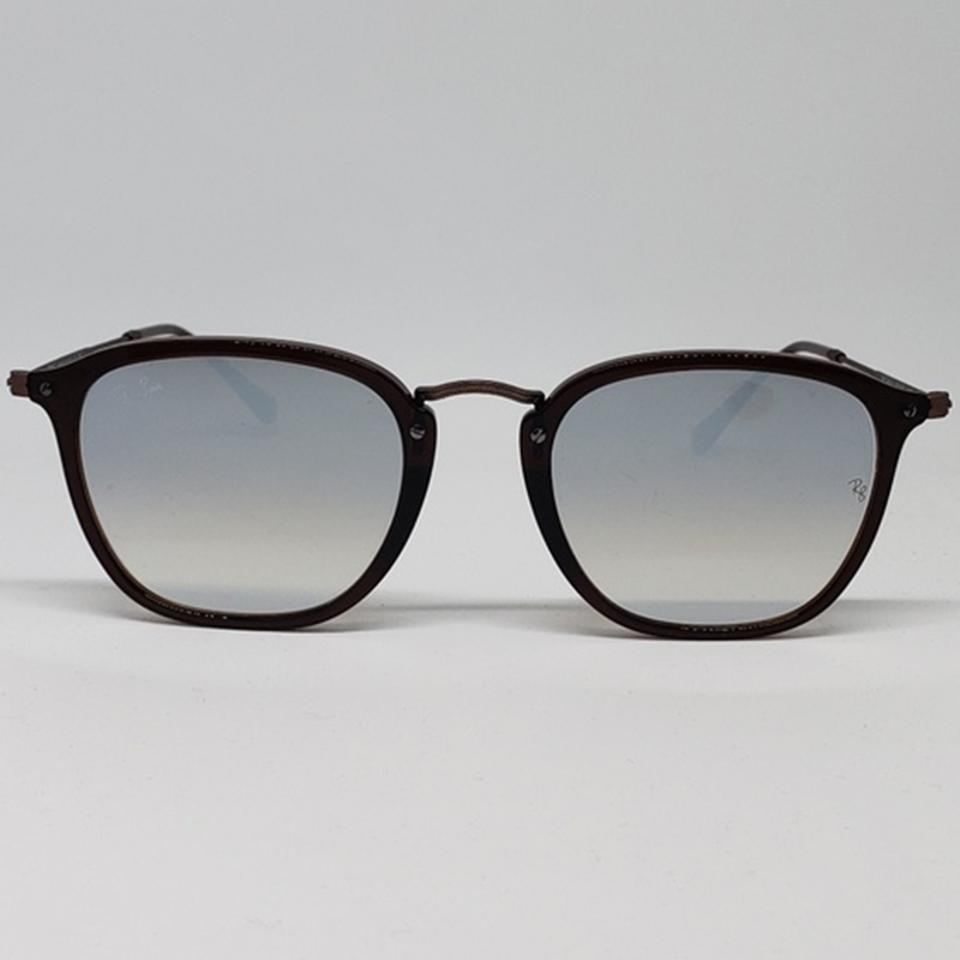 Ray-Ban Matte Brown & Silver Women Square Metal Plastic Frame with ...