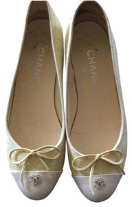 Chanel Classic Yellow Flats