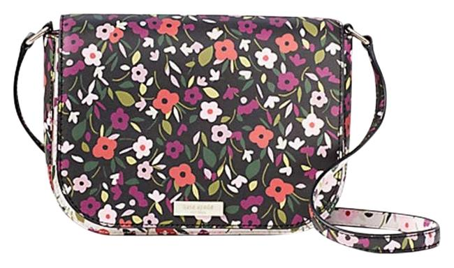 Kate Spade Laurel Way Boho Floral Large Carsen Saffiano Leather Multicolor Vinyl Cross Body Bag Kate Spade Laurel Way Boho Floral Large Carsen Saffiano Leather Multicolor Vinyl Cross Body Bag Image 1