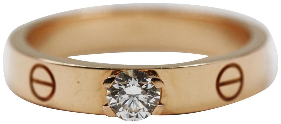 Cartier Love Solitaire Pink Gold Diamond
