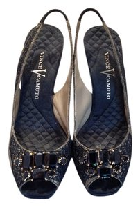 Vince Camuto Black and champagne Sandals