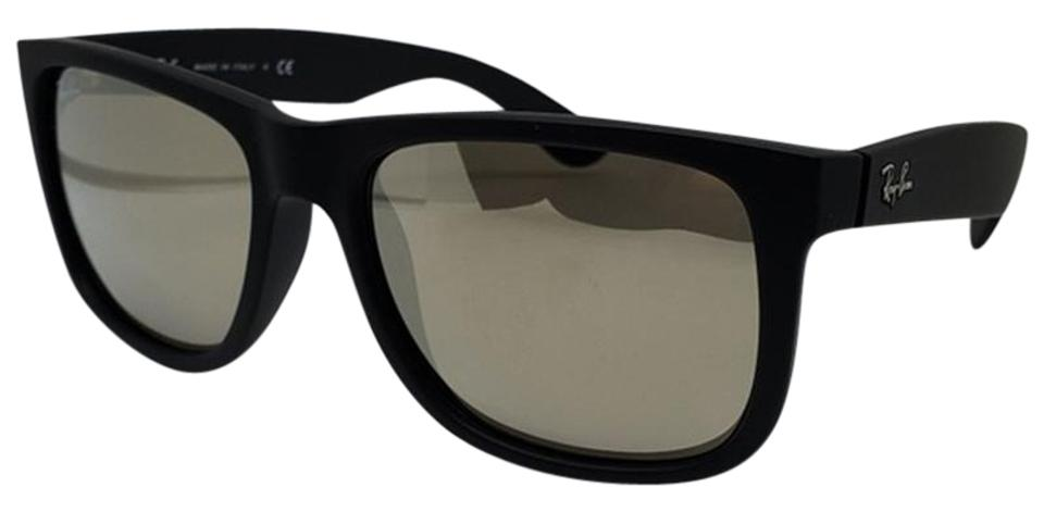 65a41da700461 Ray-Ban Unisex Square Sunglasses Rubber   Plastic Frame with Mirrored Lens  Image 0 ...