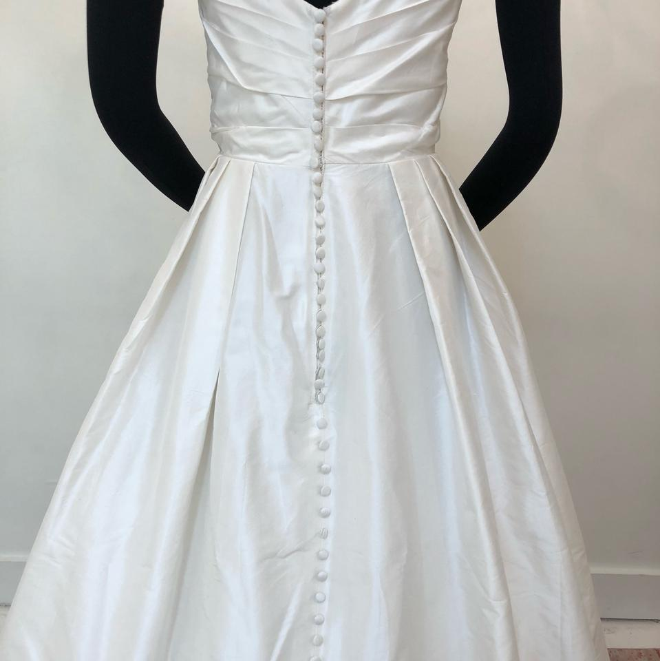 Ivory Taffeta Georgia Traditional Wedding Dress Size 10 M 56 Off Retail