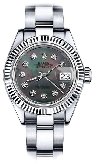 Preload https://img-static.tradesy.com/item/24091877/rolex-stainless-steel-women-s-31mm-datejust-black-mop-dial-with-diamond-accent-watch-0-1-540-540.jpg