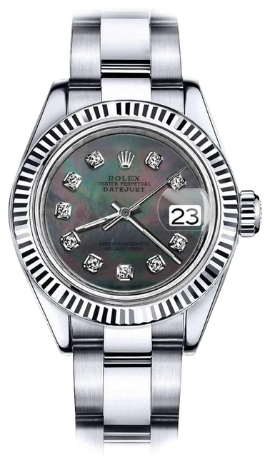 Rolex Stainless Steel Women's 31mm Datejust Black Mop Dial with Diamond Accent Watch Rolex Stainless Steel Women's 31mm Datejust Black Mop Dial with Diamond Accent Watch Image 1