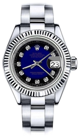 Preload https://img-static.tradesy.com/item/24091975/rolex-women-s-31mm-datejust-blue-vignette-color-dial-diamond-accent-rt-watch-0-1-540-540.jpg
