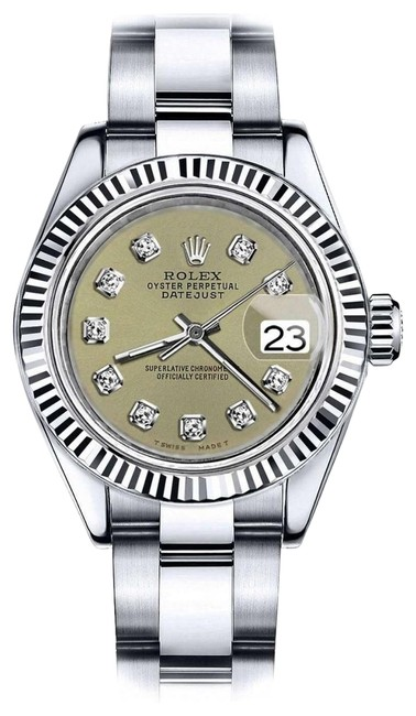 Rolex Stainless Steel Women's 31mm Datejust Champagne Color Diamond Accent Dial Watch Rolex Stainless Steel Women's 31mm Datejust Champagne Color Diamond Accent Dial Watch Image 1