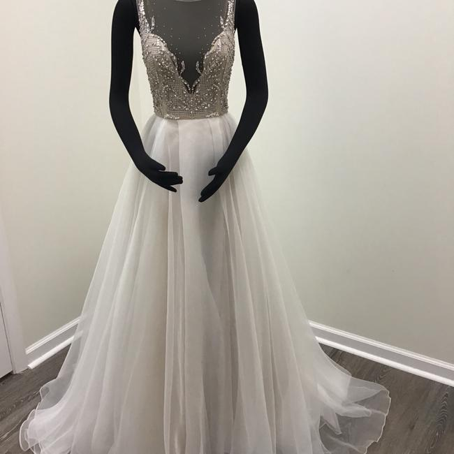Hayley Paige Moondust Organza Illusion Tulle Style 6701 Kenny Formal Wedding Dress Size 8 (M) Hayley Paige Moondust Organza Illusion Tulle Style 6701 Kenny Formal Wedding Dress Size 8 (M) Image 1