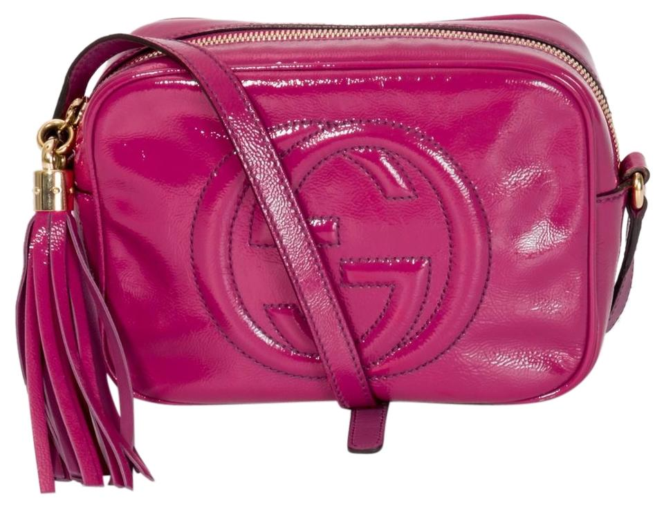 6f56a364c4b Gucci Soho Disco Fuschia Patent Leather Cross Body Bag - Tradesy