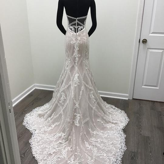 Sottero and Midgley Ivory/Dark Pearl Lace Tulle Kingsley Modern Wedding Dress Size 8 (M) Image 1