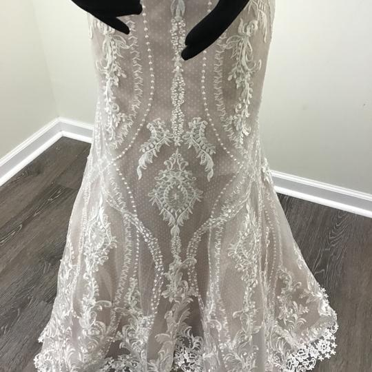 Sottero and Midgley Ivory/Dark Pearl Lace Tulle Kingsley Modern Wedding Dress Size 8 (M) Image 4