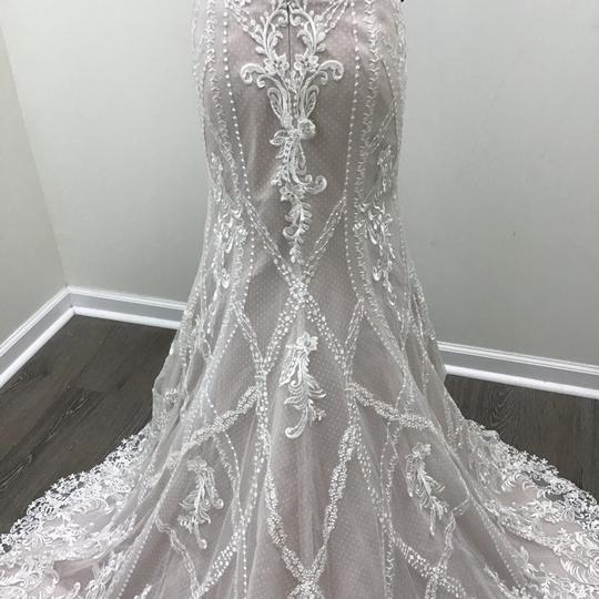 Sottero and Midgley Ivory/Dark Pearl Lace Tulle Kingsley Modern Wedding Dress Size 8 (M) Image 6