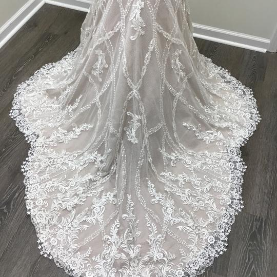 Sottero and Midgley Ivory/Dark Pearl Lace Tulle Kingsley Modern Wedding Dress Size 8 (M) Image 7