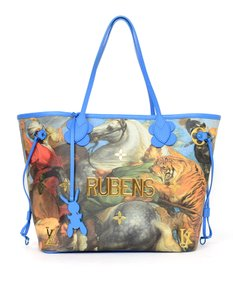 Louis Vuitton Limited Edition Art Neverfull Tote in Pattern/Blue