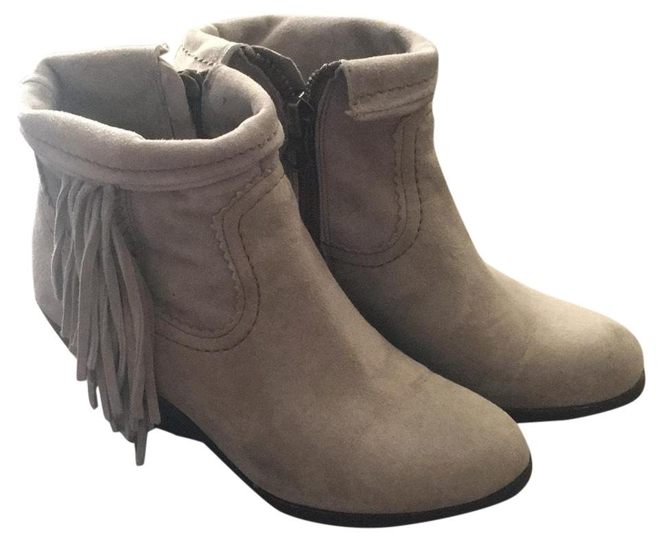 fc31bc2793ff7 Sam Edelman Tan Louie Fringe-trimmed Ankle Boots Booties Size US 5 ...